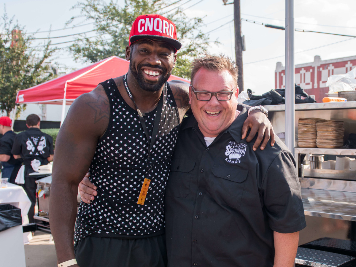 Whitney Mercilus and Chris Shepherd at Southern Smoke