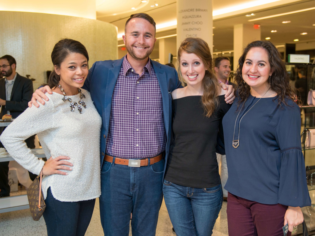 Bahiyyih Autry, Cooper Gouge, Maggie Gomez, Mallary Lattanze at CultureMap Houston Social Top Texans