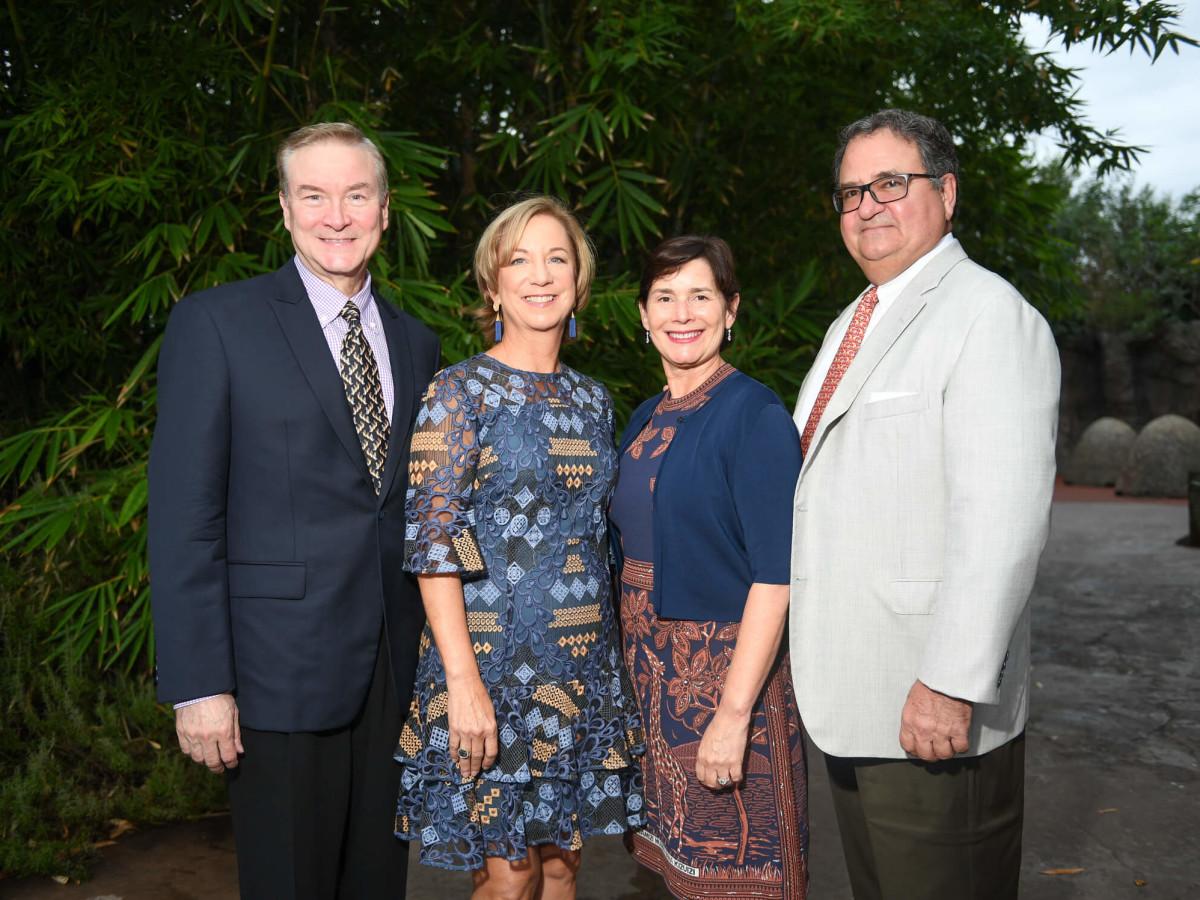 Houston, Zoo Ball, Oct. 2016, David Pustka, Nancy Pustka and Randa Weiner, K. C. Weiner