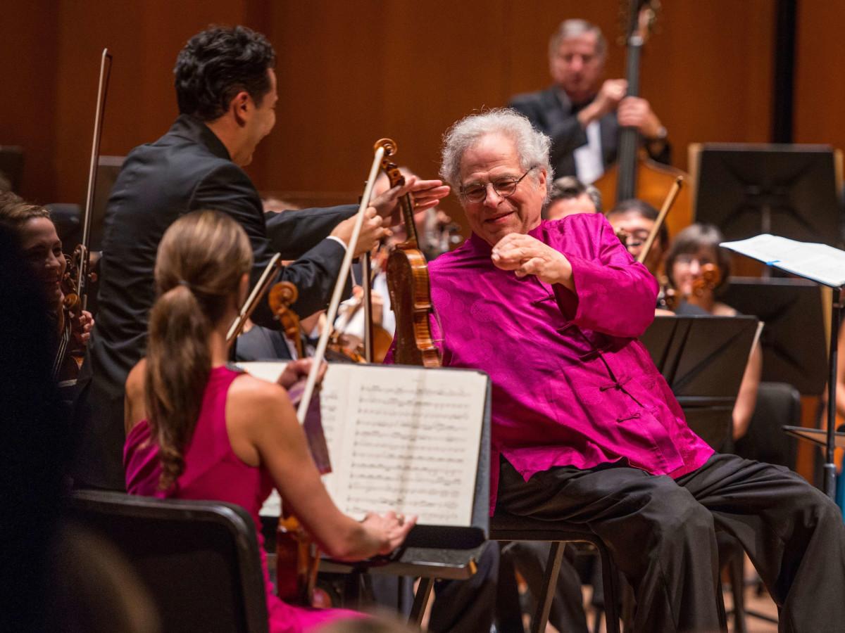 Jones Hall 50th Ball, Itzhak Perlman with Houston Symphony