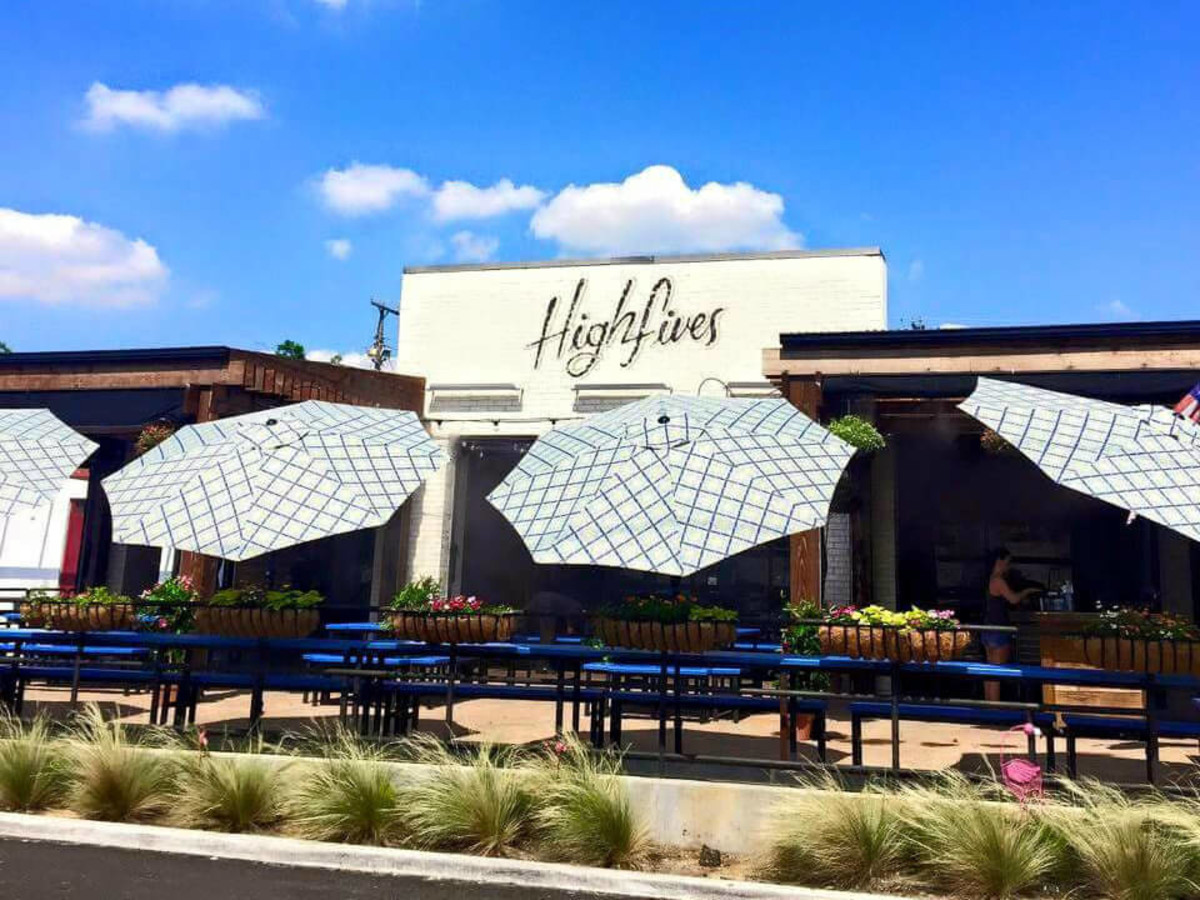 Patio at High Fives in Dallas