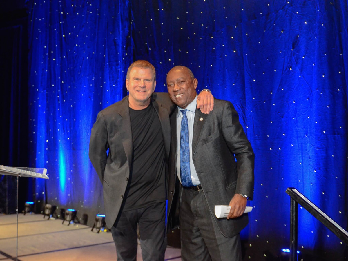 Tilman Fertitta, Sylvester Turner at Crime Stoppers Gala