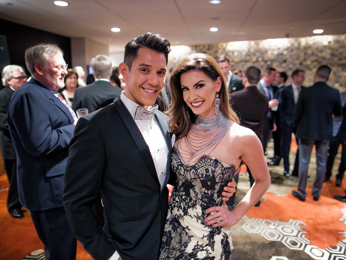 Houston, Sing for Hope gala, Nov. 2016, Adrian Perez, Nicole O'Brian Lassiter