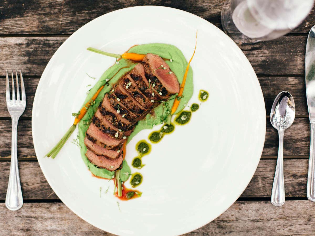 Lamb strip loin at Travaasa Austin