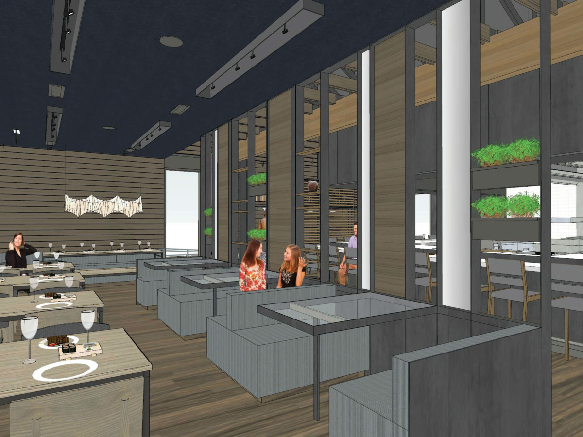 Kuneho restaurant interior rendering November 2016