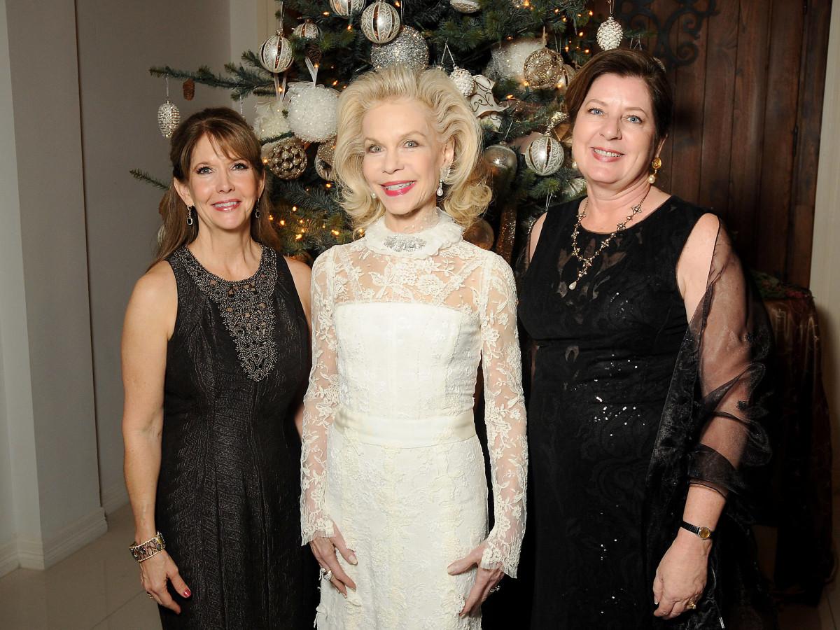 Houston, Trees of Hope gala, Nov. 2016, Donna Grehn, Lynn Wyatt, Sharon Schwartz