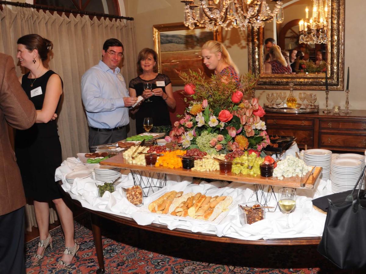Casa de Esperanza kickoff party cheese tray