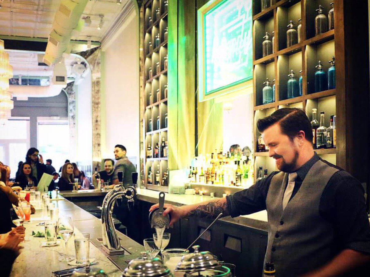 Bartender Zach Potts of Remedy restaurant in Dallas