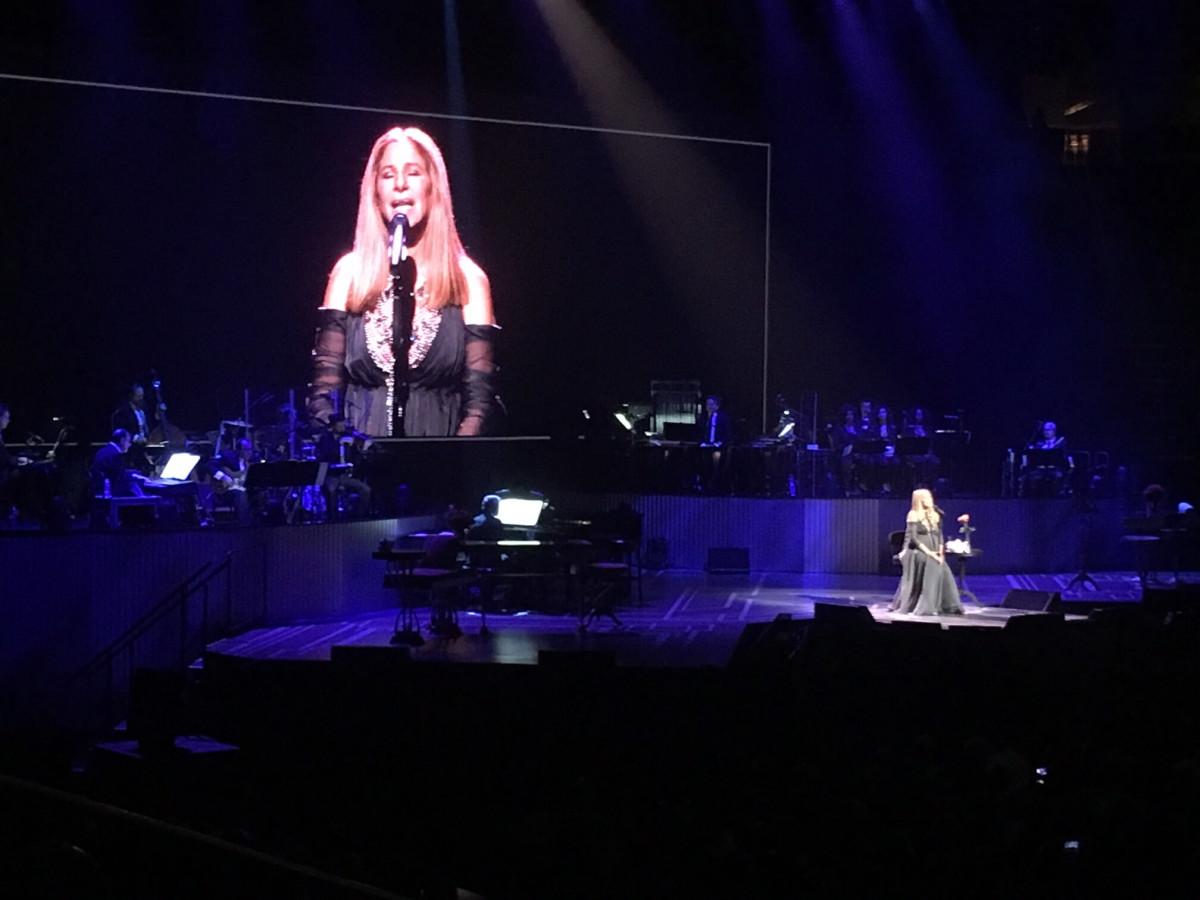 Barbra Streisand in Houston concert