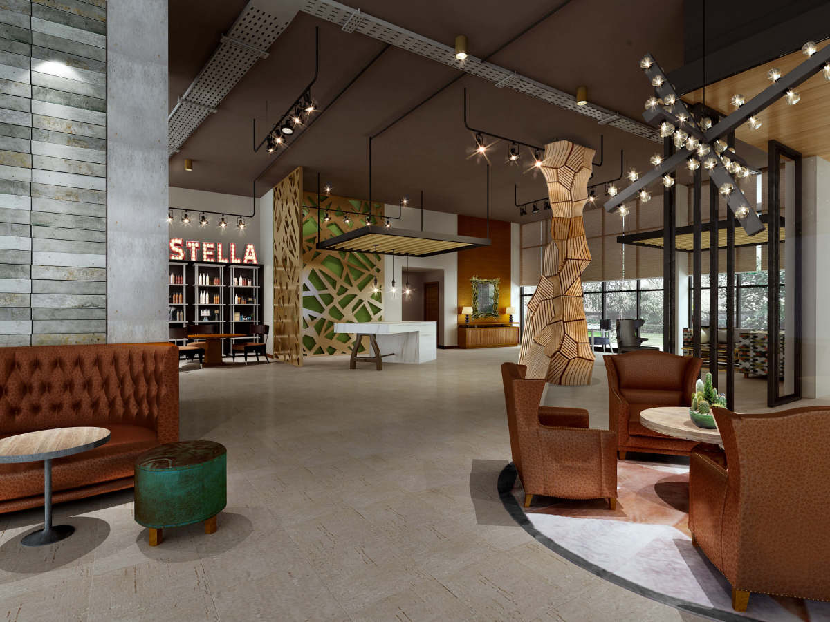 The Stella hotel College Station lobby