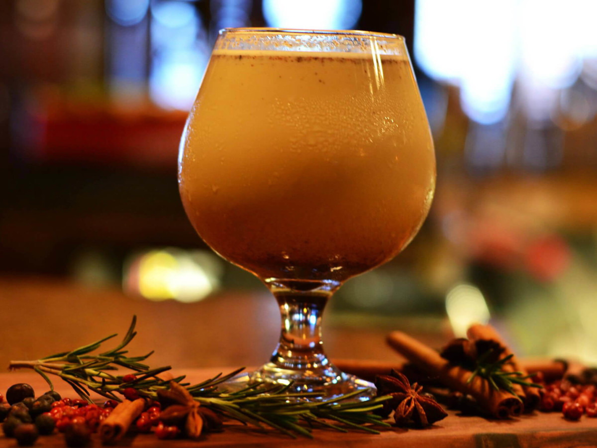 Driskill Hotel bar egg nog drink