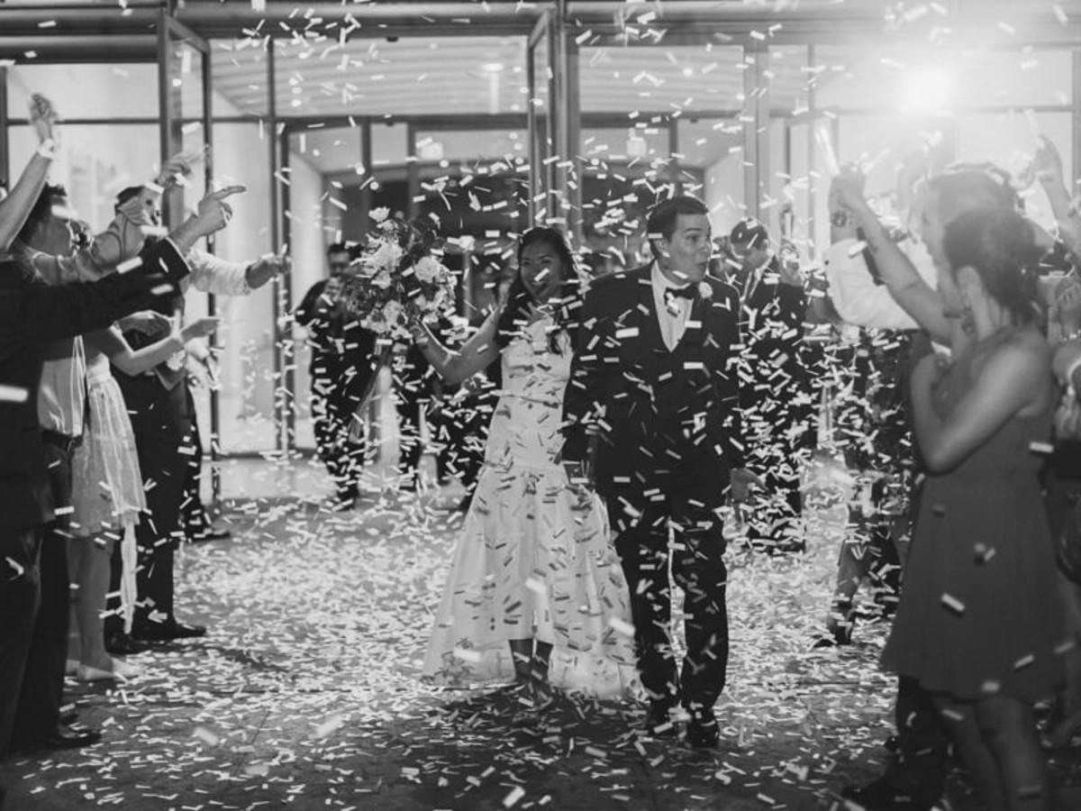 Jared + Diana leaving reception
