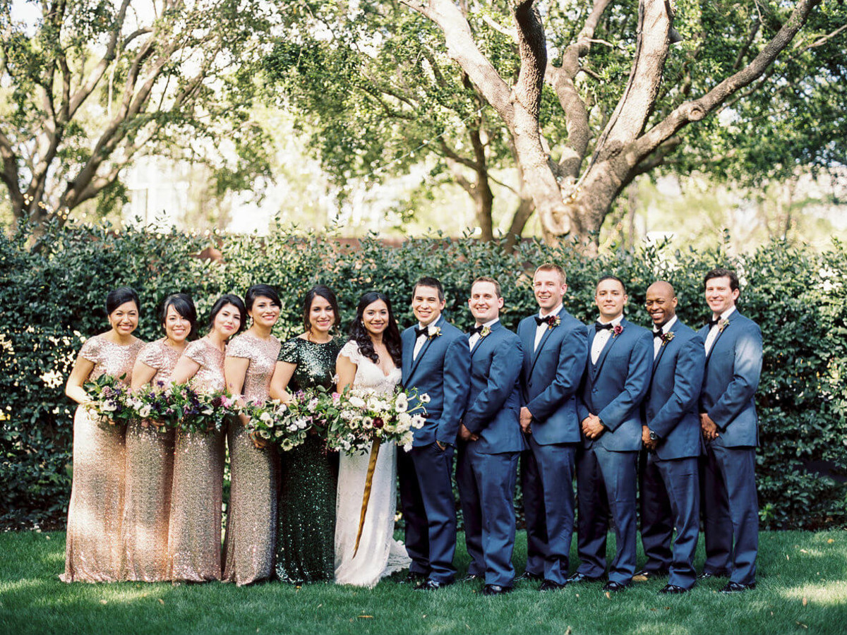 Jared + Diana bridal party