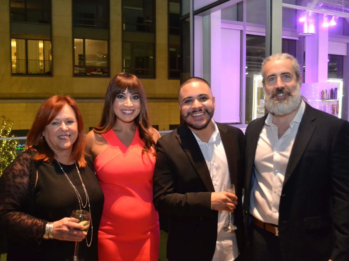 Bella Rinova salon grand opening, Linda Chambers, Jumana Elliott, Alex Huitz, Ryan Hamon