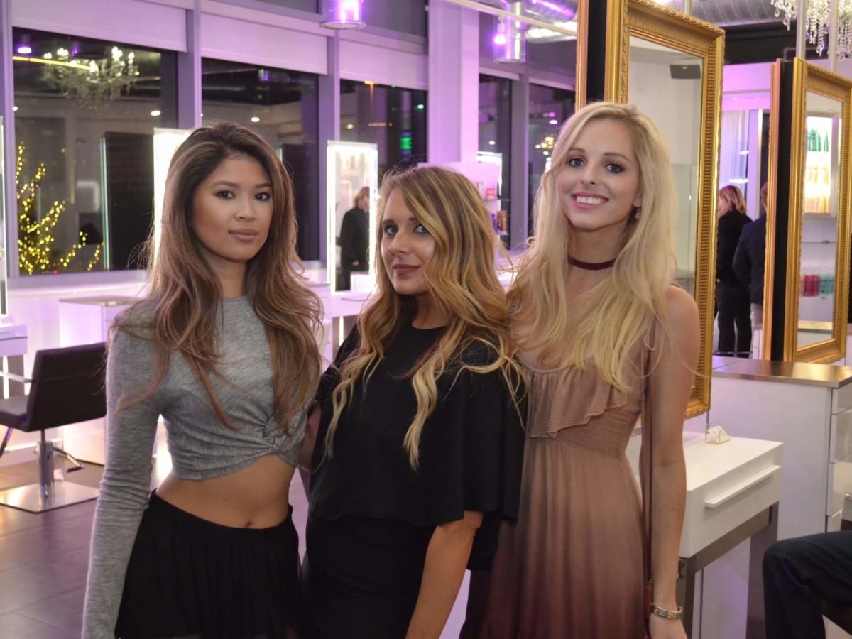 Bella Rinova salon grand opening, Sheryl Maniago, Rachel Stockton, Emily Tamlyn
