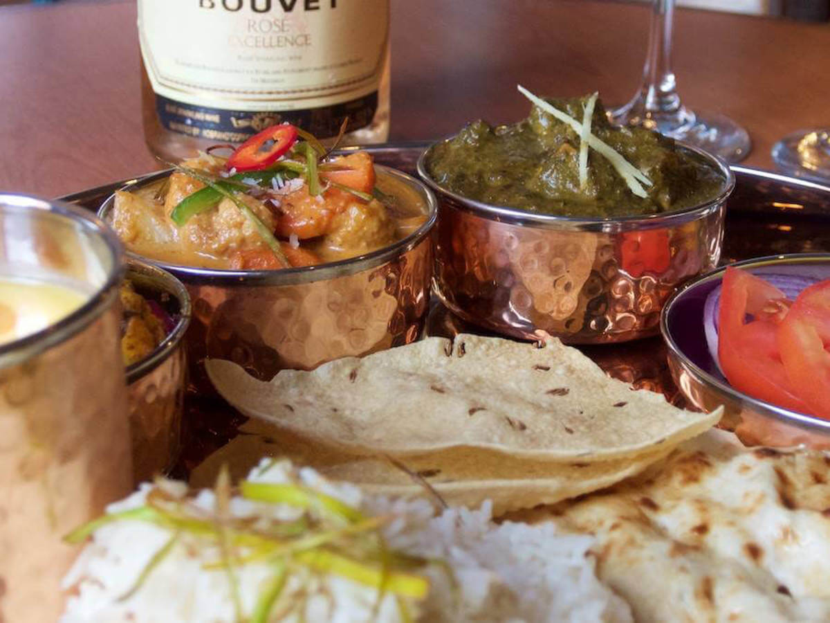 The Clay Pit Austin restaurant vegetarian thali