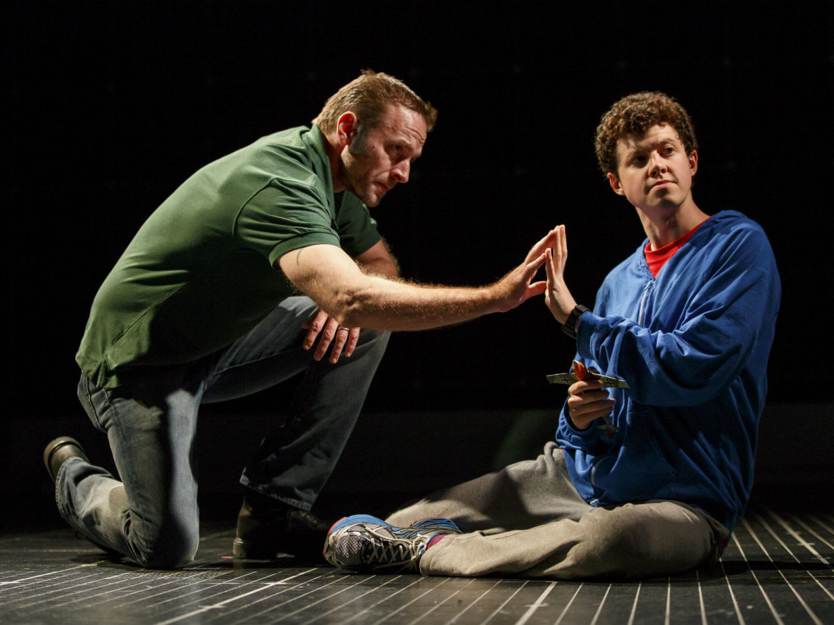Gene Gillette and Adam Langdon in the national tour of The Curious Incident of the Dog in the Night-Time