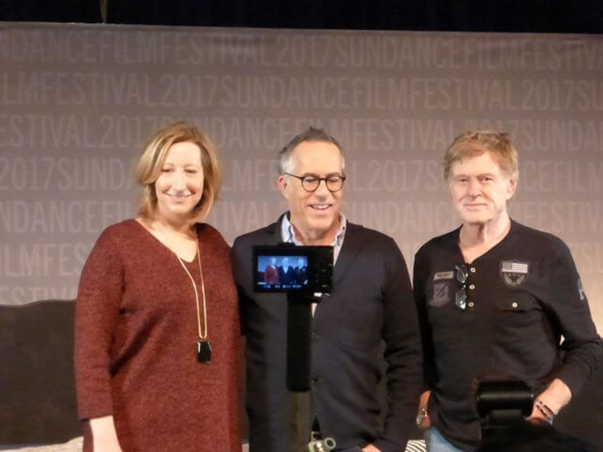 Keri Putnam, Robert Redford and John Cooper at Sundance Film Festival