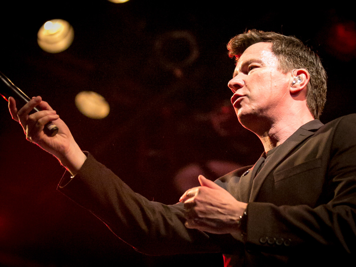 Rick Astley in concert at Warehouse Live