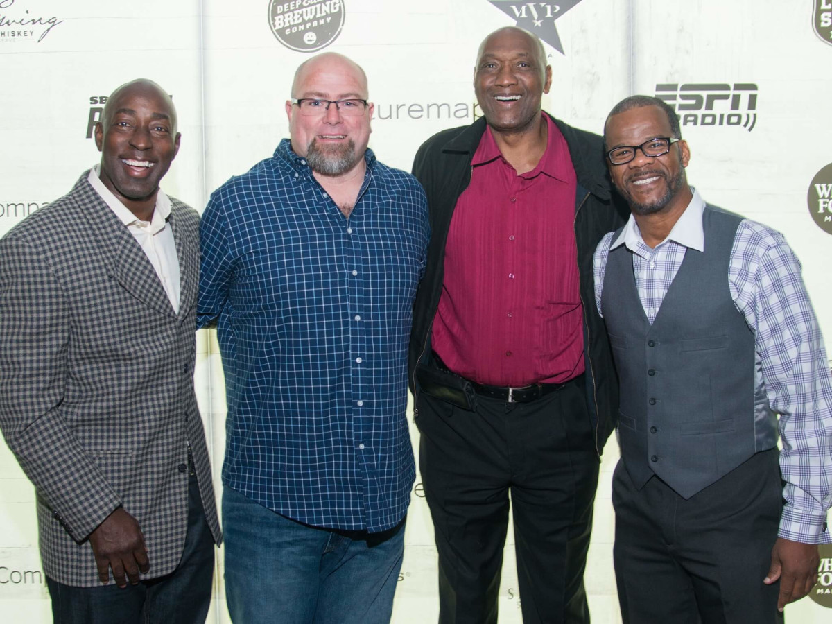 Chris Dishman, Daniel Guidry, Elvin Hays, Bubba McDowel at Big Texas party