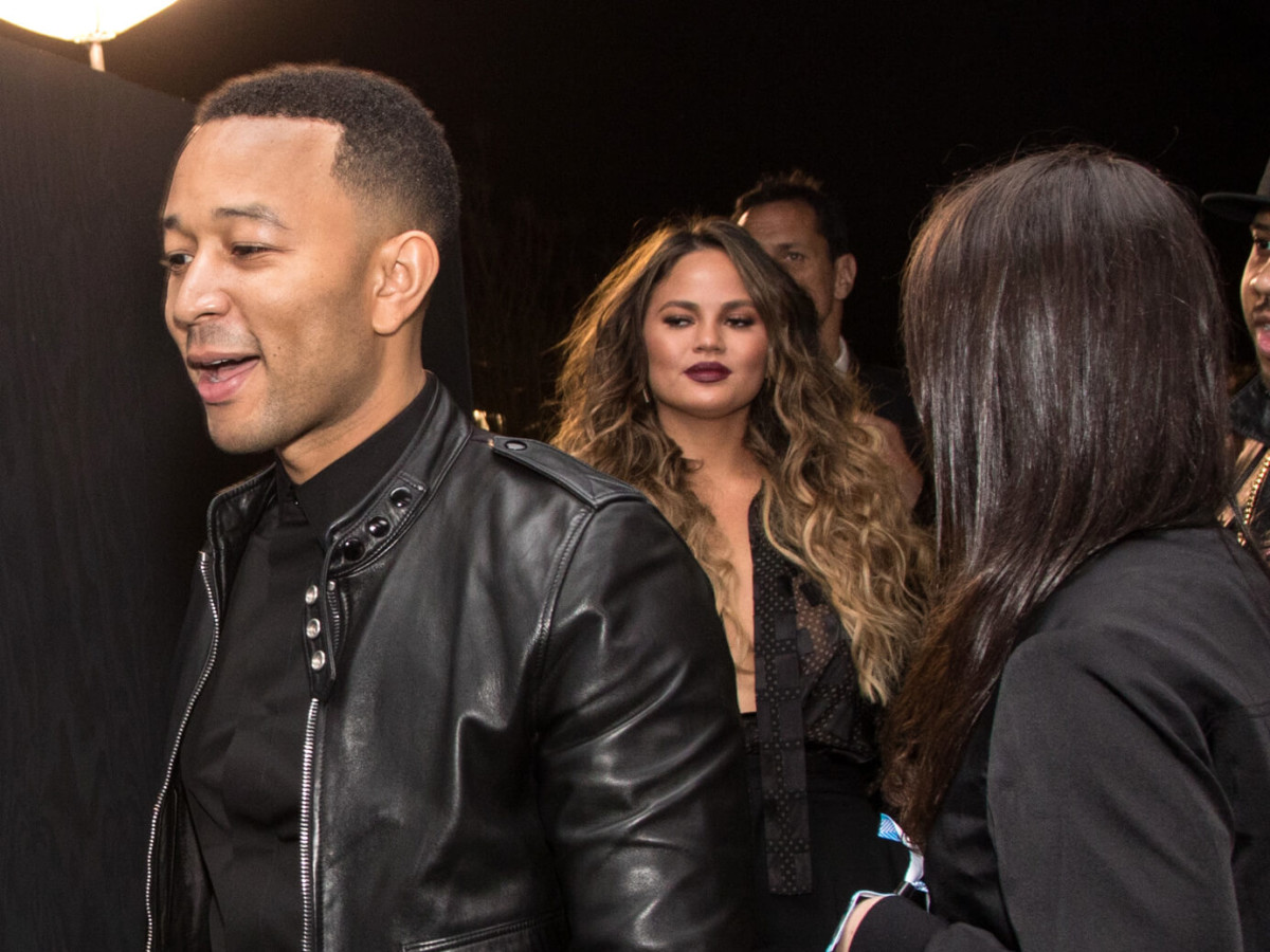 Houston, Bruno Mars Art After Dark Super Bowl Party, Jan 2017, John Legend, Chrissy Teigen