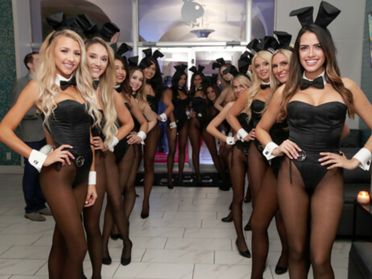 Houston, Playboy and Tao Super Bowl Party, Jan 2017, Cocktail waitresses attend the Playboy party
