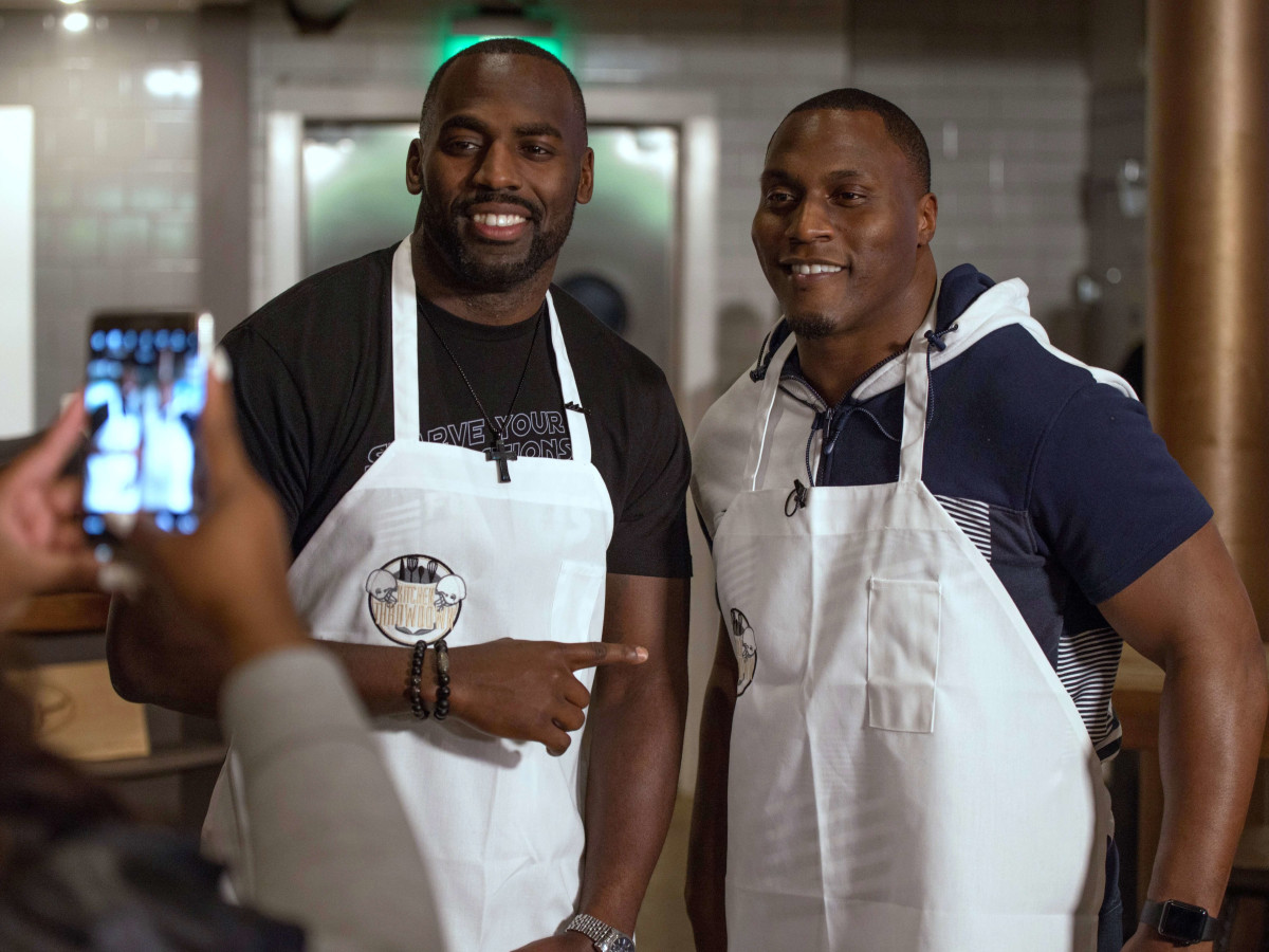 Houston, Kitchen Throwdown with Whitney Mercilus, Jan 2017, Whitney Mercilus, Takeo Spikes
