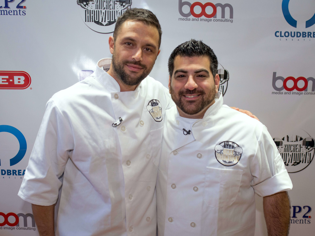 Houston, Kitchen Throwdown with Whitney Mercilus, Jan 2017, Chef Sabin Lomac and Chef Kevin Naderi