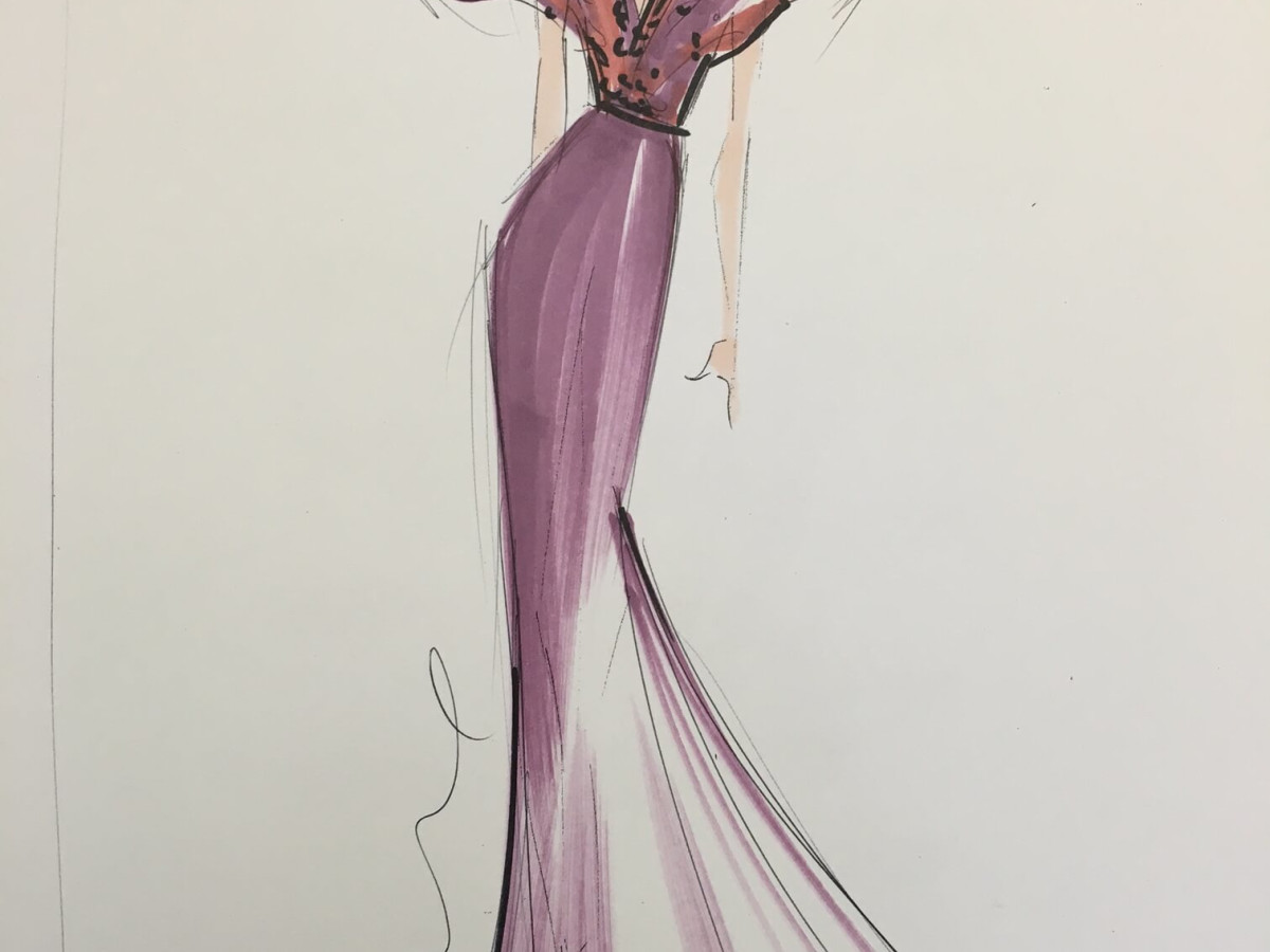 Christian Siriano inspiration sketch fall 2017