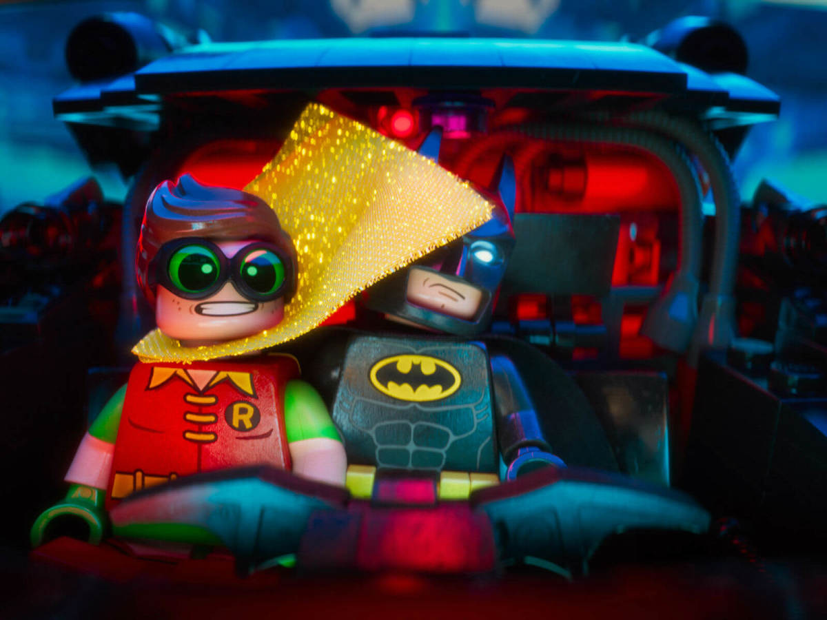 Robin (Michael Cera) and Batman (Will Arnett) in The LEGO Batman Movie