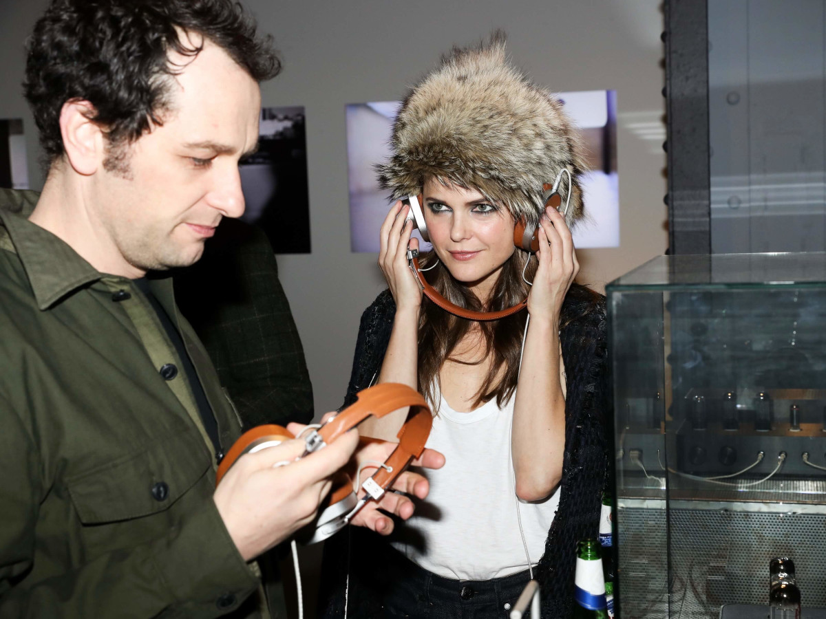 Matthew Rhys, Keri Russell at Rag & Bone exhibition party