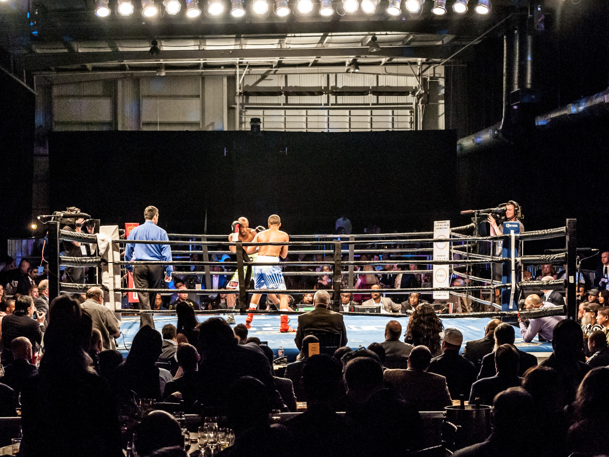 Houston, Black Tie Boxing Benefiting Lone Survivor Foundation, Feb 2017, the main room and boxing ring
