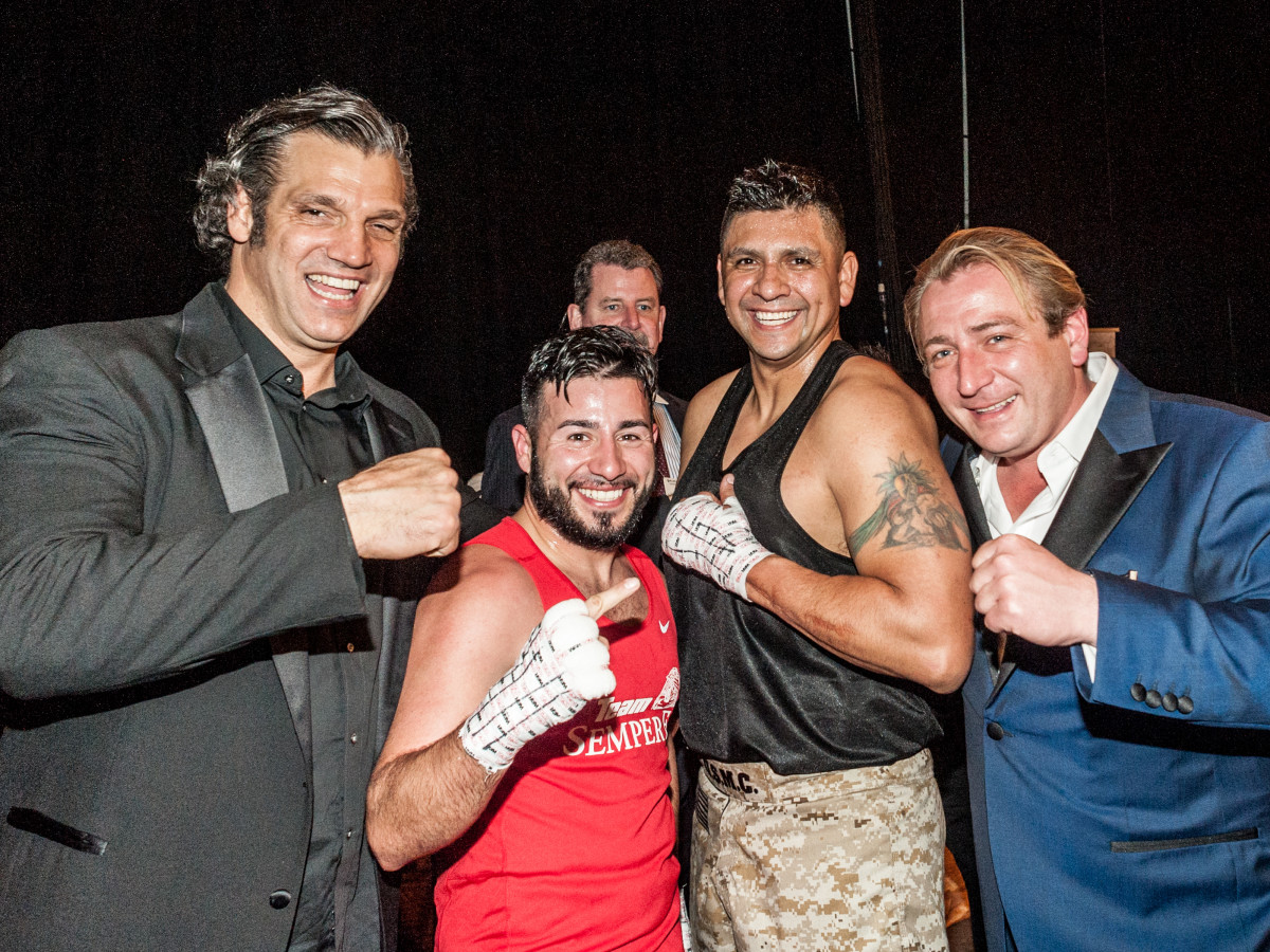"Houston, Black Tie Boxing Benefiting Lone Survivor Foundation, Feb 2017, Lou Savarese, Eric Morante, Alex ""Titanium"" Del Rio, Ben Berg"