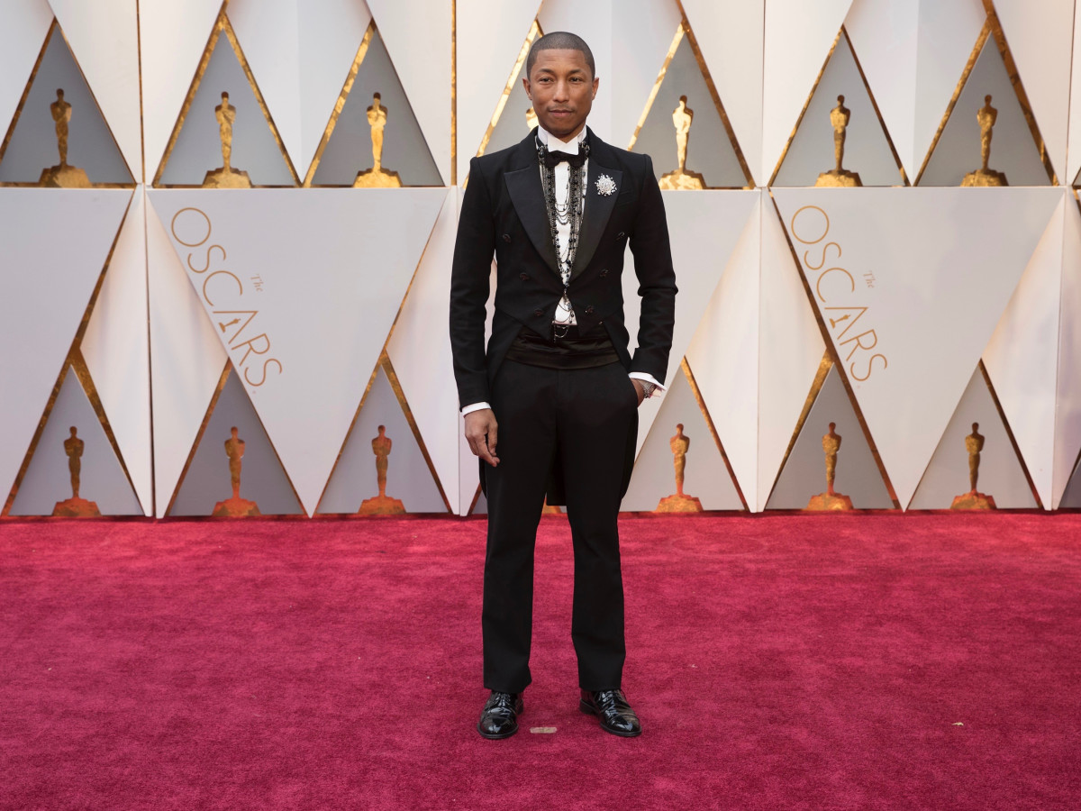 Pharrell Williams in Chanel at Oscars 2017