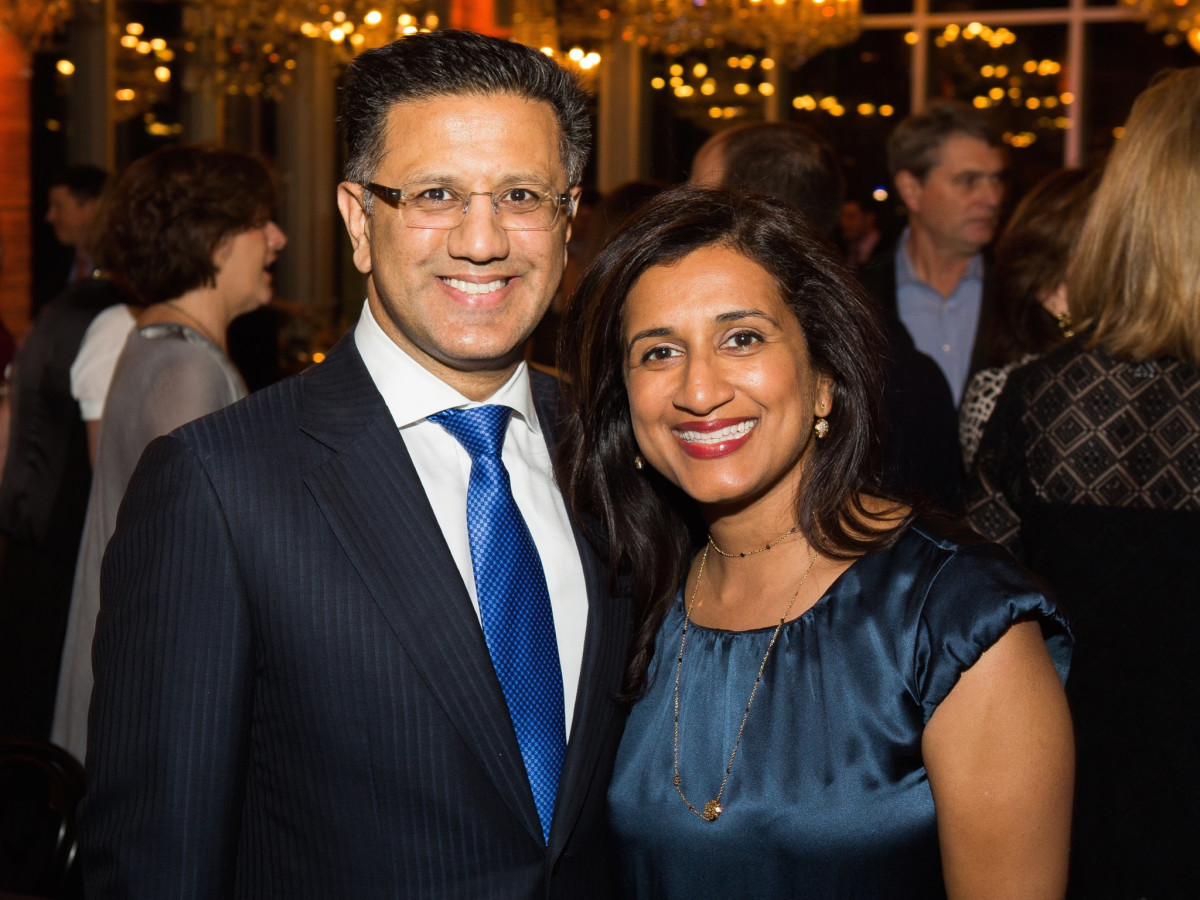 Badar Kahn, Masu Khan at UTHealth Children's Learning Institute's fifth annual tasting dinner