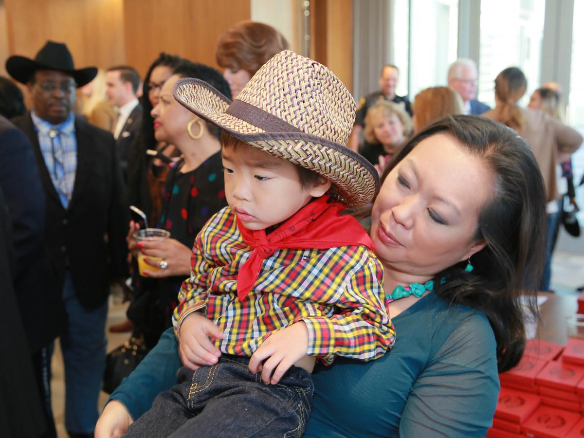 Miya Shay, Winston Wu at Mayor's Rodeo Kick-off Breakfast