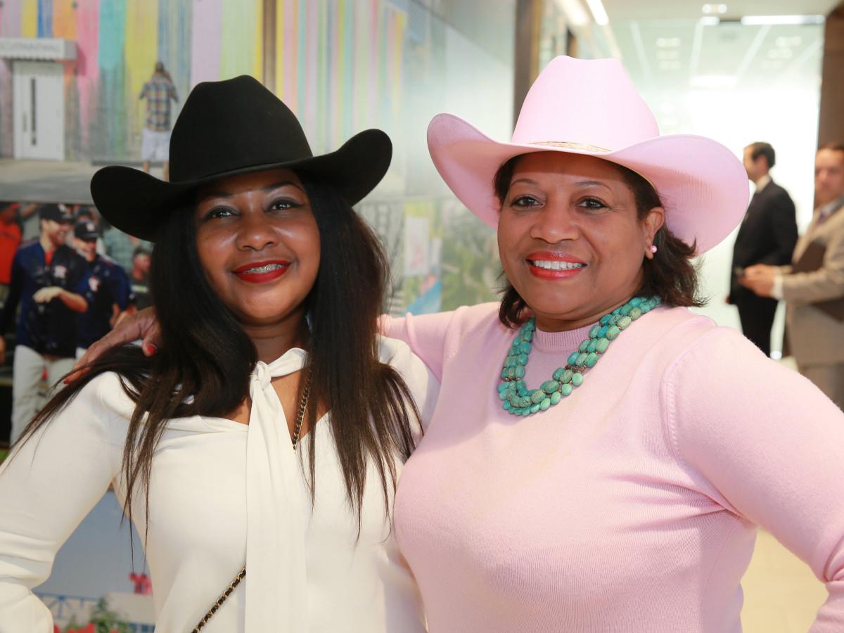 Thessalonian LeBlanc, Rhonda Arnold at Mayor's Rodeo kickoff breakfast