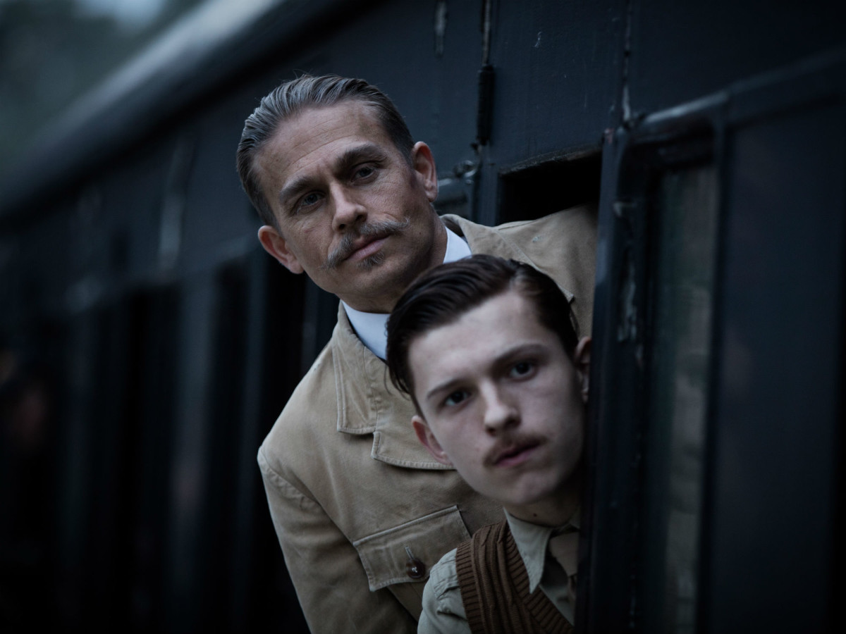 Charlie Hunnam and Tom Holland in The Lost City of Z