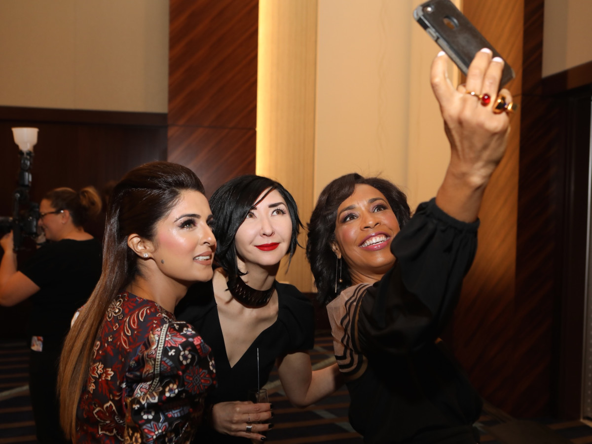 Sneha Merchant, Carrie Brandsberg-Dahl, Gina Gaston at Best Dressed Luncheon 2017