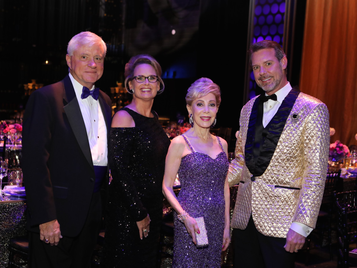 Bart McAndrews, Becky  McAndrews, Margaret Alkek Williams, Paul David Van Atta at TUTS Dreamgirls Gala 2017