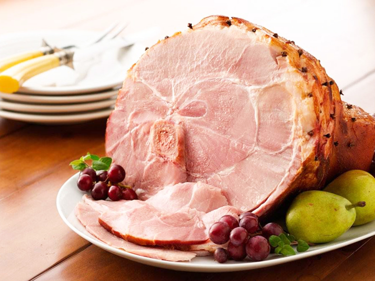 Easter ham meat