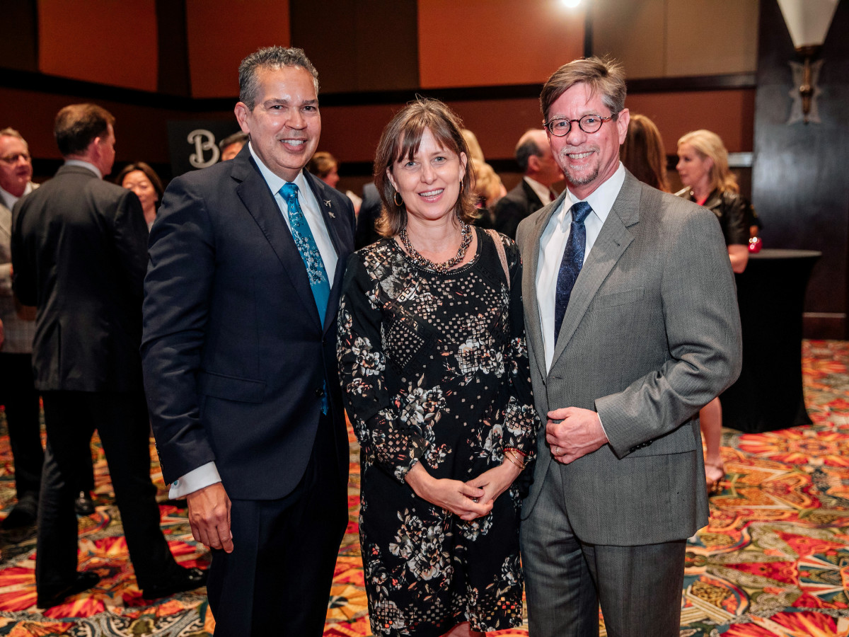 Houston, Space Center Houston Galaxy Gala, April 2017, Space Center Houston CEO William Harris, Misha Laird, Stephen Klimas