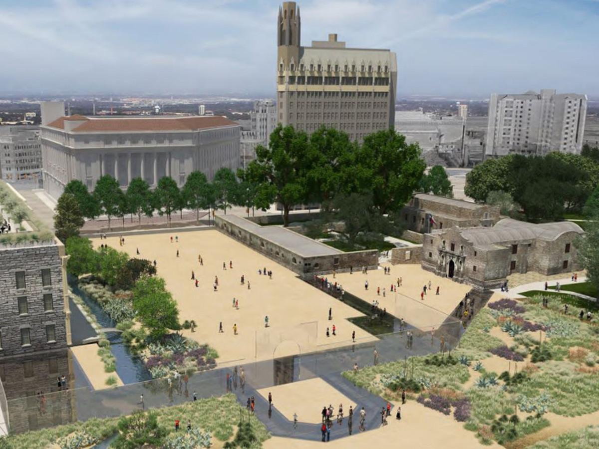Alamo Master Plan 2017 plaza