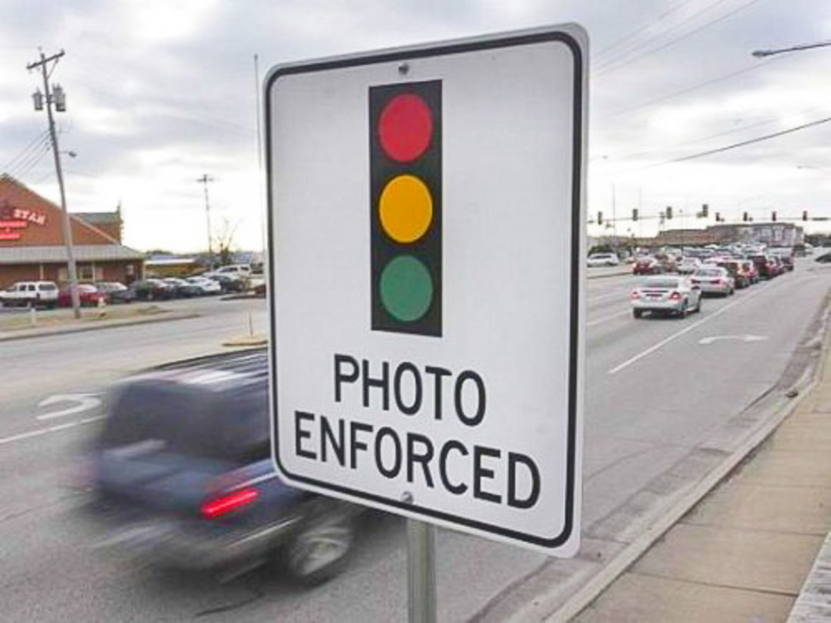 red light camera, photo enforced sign, traffic