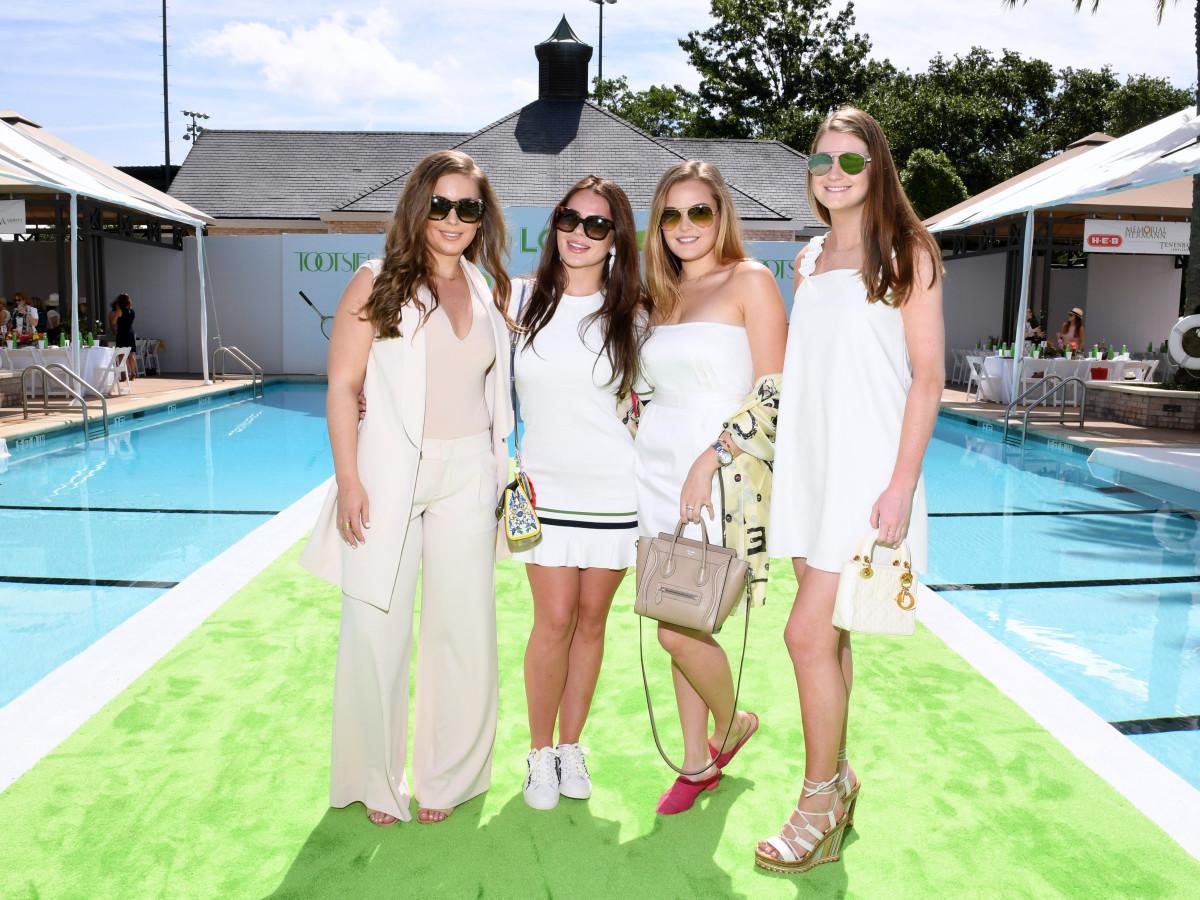Houston, River Oaks and Tootsies tennis tournament luncheon, April 2017, Claire Petratis, Meredith Flores,Reagan Corbett, Kendall Allen