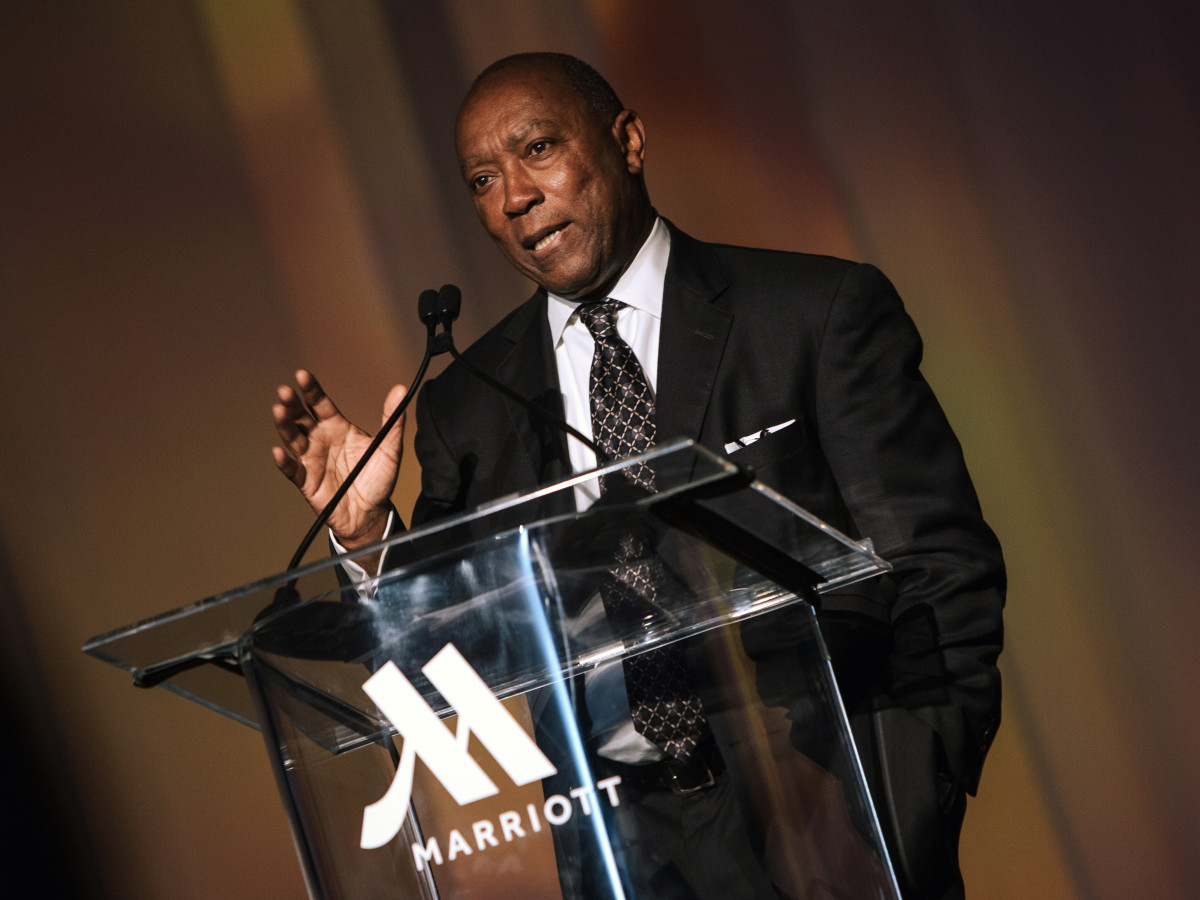 Houston, Marriott Marquis grand opening party, April 2017, Mayor Sylvester Turner