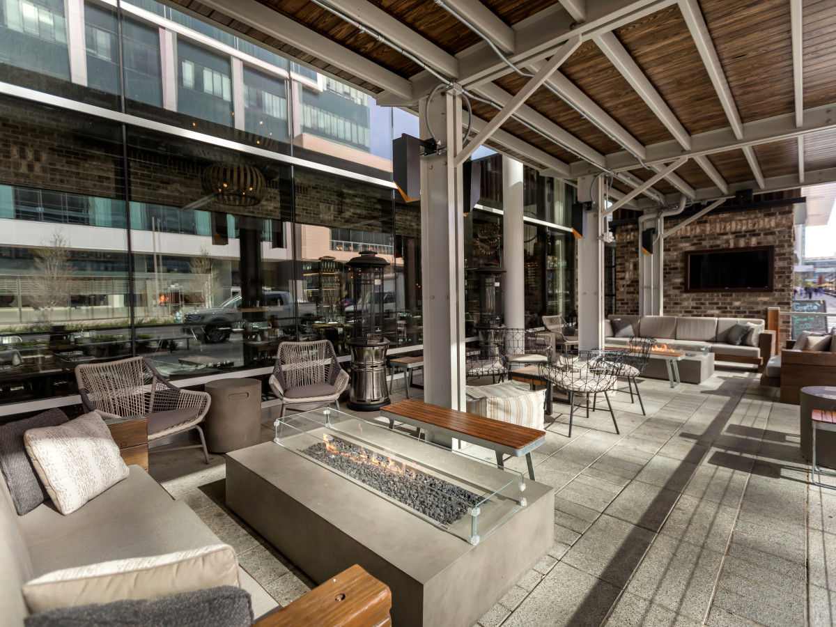 Houston, new patios, April 2017, Grotto downtown