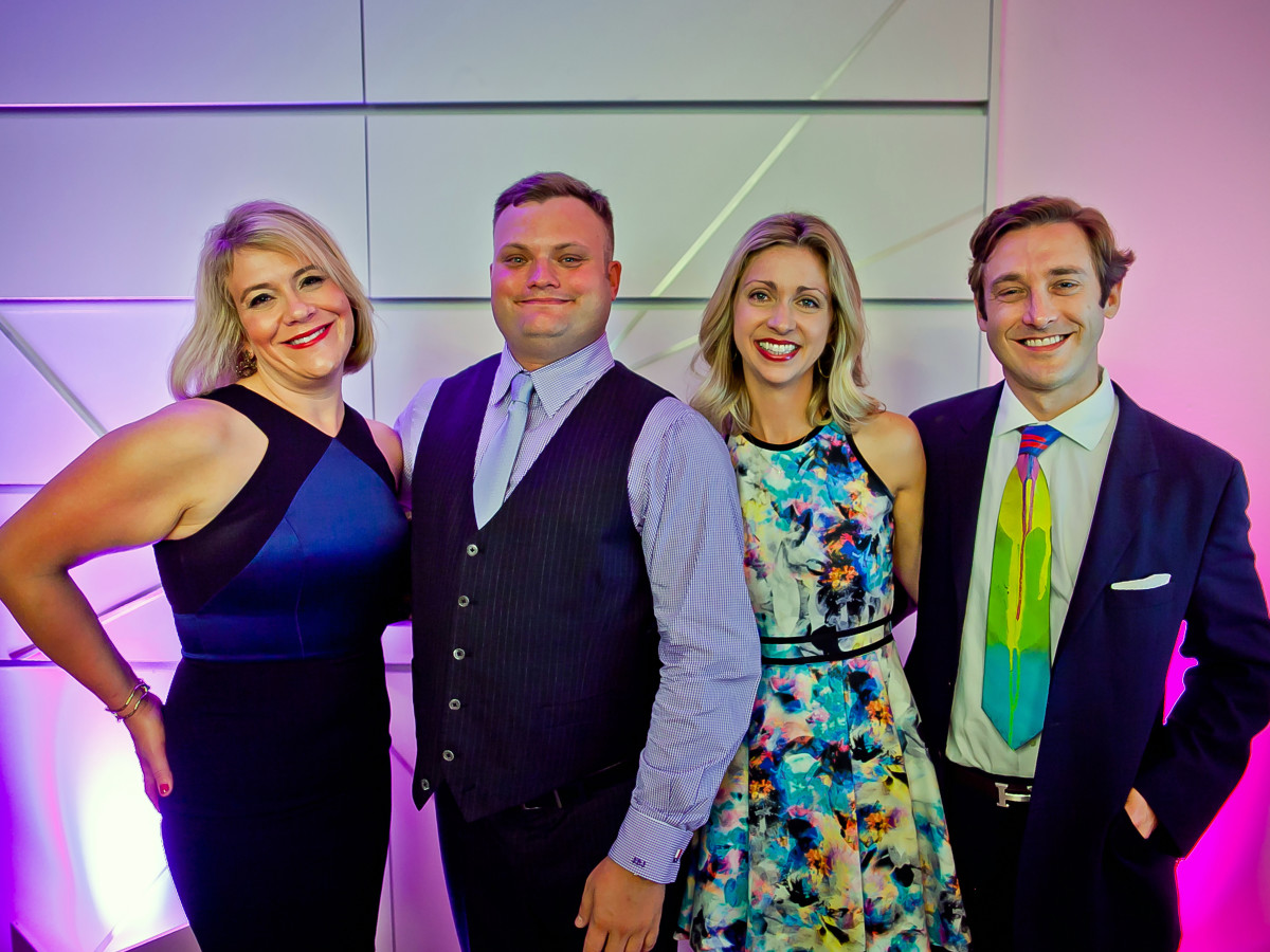 Houston, Blaffer Art Museum Color Splash Gala, April 2017, Michele Blythe, Seth Blaffer Johnson, Meredith Hedemann, Travis Hedemann