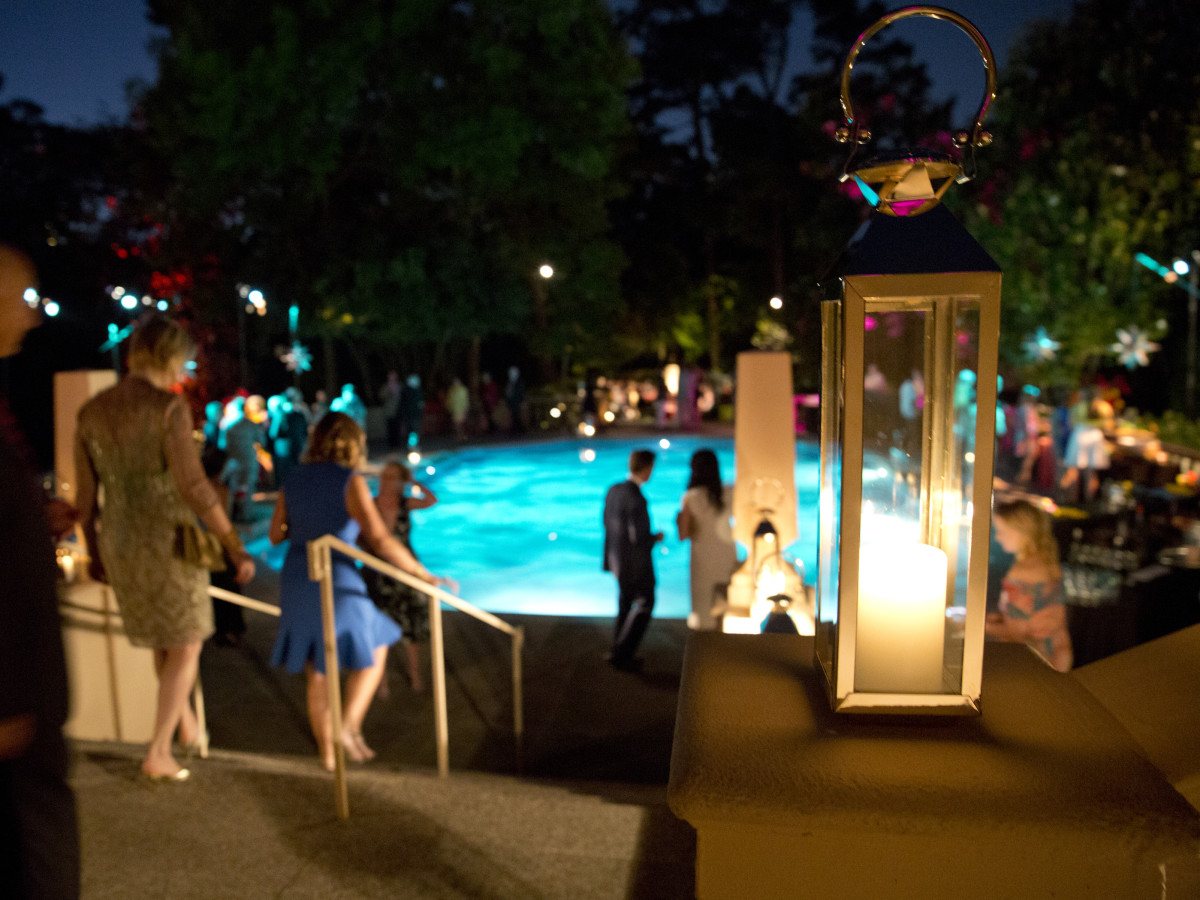 Houston, Rienzi Spring Party, April 2017, the pool