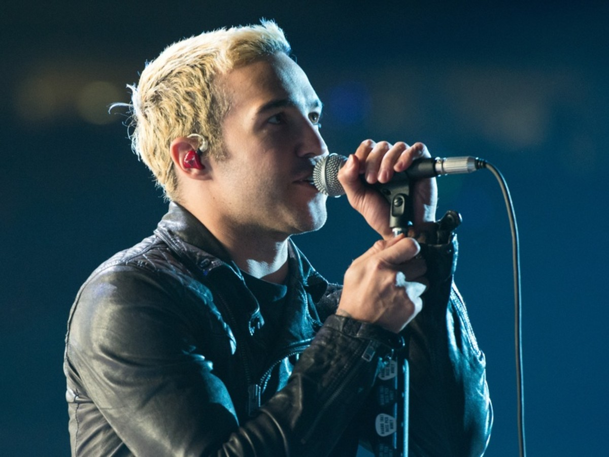 Pete Wentz of Fall Out Boy performs at Houston Rodeo